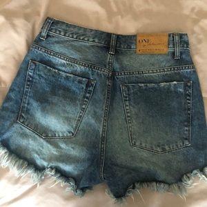 One Teaspoon Shorts - One Teaspoon High Waist Bonita Cut Off Shorts